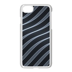 Metal Steel Stripped Creative Apple Iphone 7 Seamless Case (white)