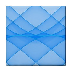 Background Light Glow Blue Tile Coasters