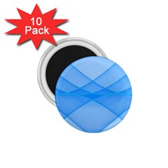 Background Light Glow Blue 1 75  Magnets (10 Pack)