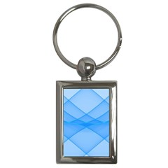 Background Light Glow Blue Key Chains (rectangle)