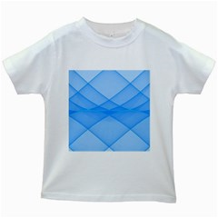 Background Light Glow Blue Kids White T Shirts
