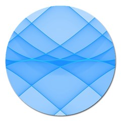 Background Light Glow Blue Magnet 5  (round)