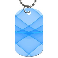 Background Light Glow Blue Dog Tag (two Sides)