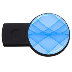 Background Light Glow Blue Usb Flash Drive Round (2 Gb)
