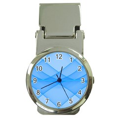 Background Light Glow Blue Money Clip Watches