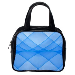 Background Light Glow Blue Classic Handbags (one Side)