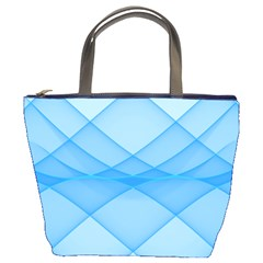 Background Light Glow Blue Bucket Bags