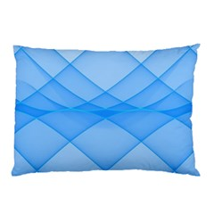 Background Light Glow Blue Pillow Case