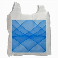 Background Light Glow Blue Recycle Bag (two Side)
