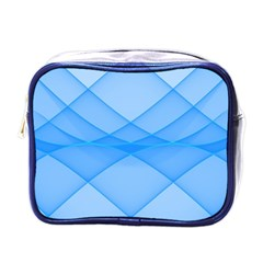 Background Light Glow Blue Mini Toiletries Bags