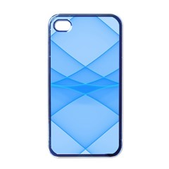 Background Light Glow Blue Apple Iphone 4 Case (black)