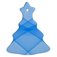 Background Light Glow Blue Christmas Tree Ornament (two Sides)