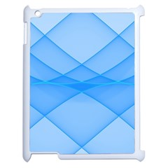 Background Light Glow Blue Apple Ipad 2 Case (white)