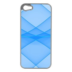 Background Light Glow Blue Apple Iphone 5 Case (silver)