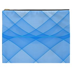 Background Light Glow Blue Cosmetic Bag (xxxl)