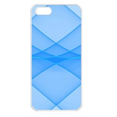 Background Light Glow Blue Apple Iphone 5 Seamless Case (white)
