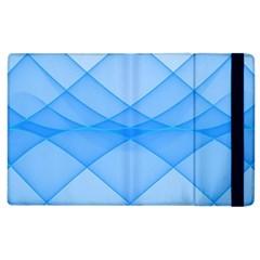Background Light Glow Blue Apple Ipad 2 Flip Case