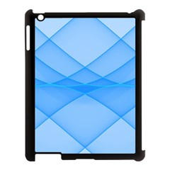 Background Light Glow Blue Apple Ipad 3/4 Case (black)