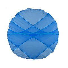 Background Light Glow Blue Standard 15  Premium Round Cushions