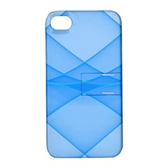 Background Light Glow Blue Apple Iphone 4/4s Hardshell Case With Stand