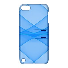 Background Light Glow Blue Apple Ipod Touch 5 Hardshell Case With Stand