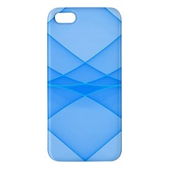 Background Light Glow Blue Apple Iphone 5 Premium Hardshell Case