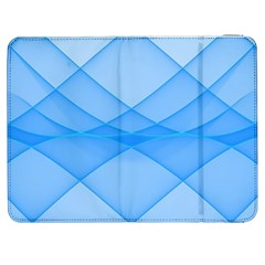 Background Light Glow Blue Samsung Galaxy Tab 7  P1000 Flip Case
