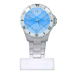 Background Light Glow Blue Plastic Nurses Watch