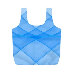 Background Light Glow Blue Full Print Recycle Bags (m)