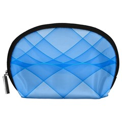Background Light Glow Blue Accessory Pouches (large)