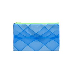 Background Light Glow Blue Cosmetic Bag (xs) by Nexatart