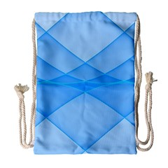 Background Light Glow Blue Drawstring Bag (large)