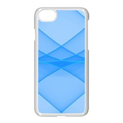 Background Light Glow Blue Apple Iphone 7 Seamless Case (white)