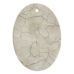 Background Wall Marble Cracks Ornament (oval)