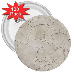 Background Wall Marble Cracks 3  Buttons (100 Pack)