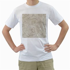 Background Wall Marble Cracks Men s T Shirt (white) (two Sided)