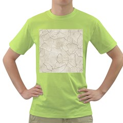 Background Wall Marble Cracks Green T Shirt