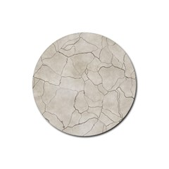 Background Wall Marble Cracks Rubber Round Coaster (4 Pack)  by Nexatart
