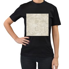 Background Wall Marble Cracks Women s T Shirt (black) (two Sided)