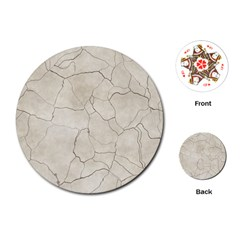 Background Wall Marble Cracks Playing Cards (round)