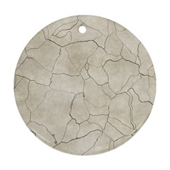 Background Wall Marble Cracks Round Ornament (two Sides) by Nexatart