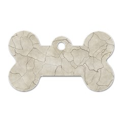 Background Wall Marble Cracks Dog Tag Bone (one Side)