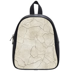 Background Wall Marble Cracks School Bag (small)