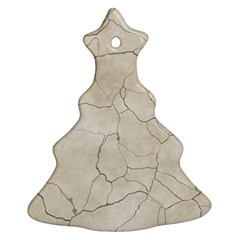 Background Wall Marble Cracks Christmas Tree Ornament (two Sides)