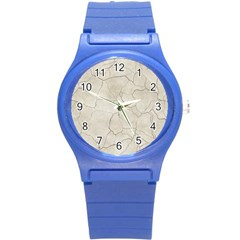Background Wall Marble Cracks Round Plastic Sport Watch (s)