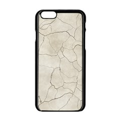 Background Wall Marble Cracks Apple Iphone 6/6s Black Enamel Case
