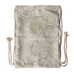 Background Wall Marble Cracks Drawstring Bag (large)