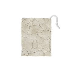 Background Wall Marble Cracks Drawstring Pouches (xs)