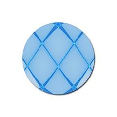Background Light Glow Blue Rubber Coaster (round)