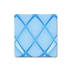 Background Light Glow Blue Square Magnet
